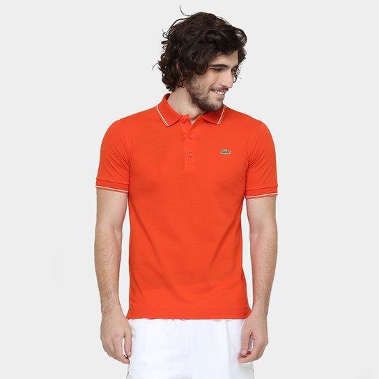 f8f62689f45 Camisa Polo Lacoste Básica - Laranja - Compre Agora