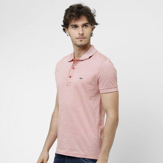 541bfe3347e2f Camisa Polo Lacoste Listras Finas - Compre Agora