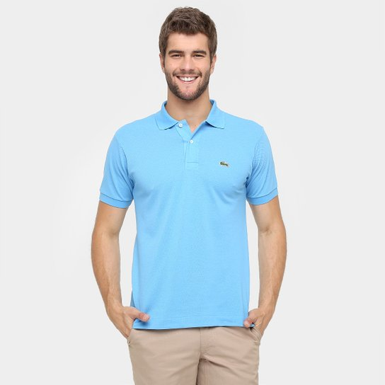 Camisa Polo Lacoste Piquet Original Fit Masculina - Azul Escuro ... 669869760f813