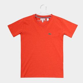 7b6ad5cda2e Camiseta Infantil Lacoste Masculina