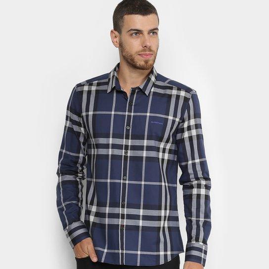53cca8877a Camisa Calvin Klein Slim Xadrez Over Masculina - Compre Agora