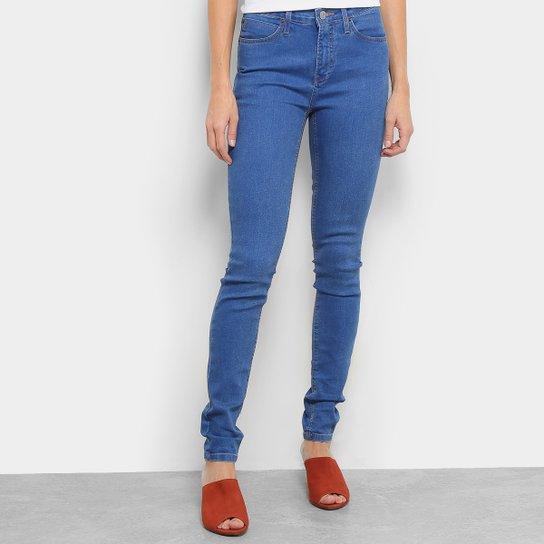 465a4ec9a Calça Jeans Skinny Calvin Klein Cintura Alta Feminina - Azul Escuro ...