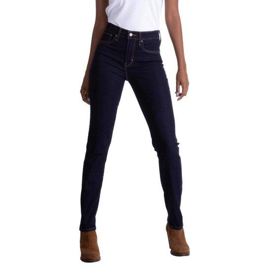 Calça Jeans Levis 724 High Rise Straight Escuro Feminina - Azul Escuro df1bd2d21cb