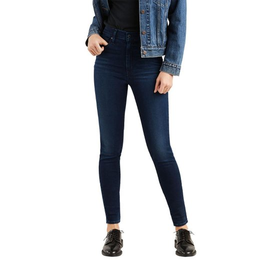 b4642dab336f1 Calça Jeans Levis Mile High Super Skinny Escuro Feminina - Azul Escuro