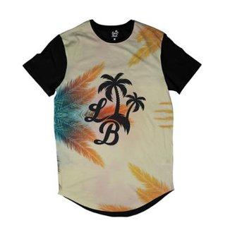 Camiseta Longline Long Beach Céu de Long Beach Sublimada Masculina 4e76967fb67