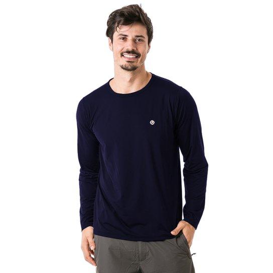 25a6e4fd07 Camiseta com Proteção Solar FPU50+ Manga Longa Extreme UV Ice - Azul Escuro