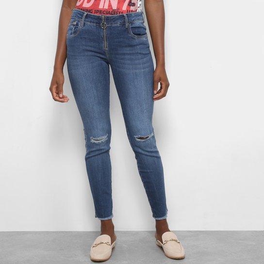 09d76b757 Calça Jeans Skinny Triton Fátima Mid Cropped Feminina - Compre Agora ...
