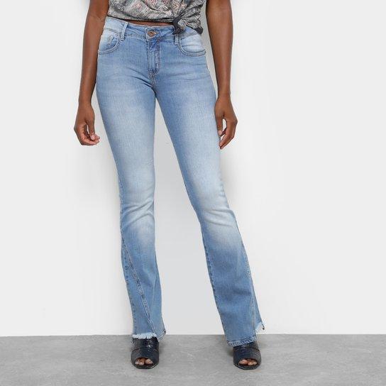 1a18b5817 Calça Jeans Flare Triton Boot Cut Cintura Média Feminina - Azul Escuro