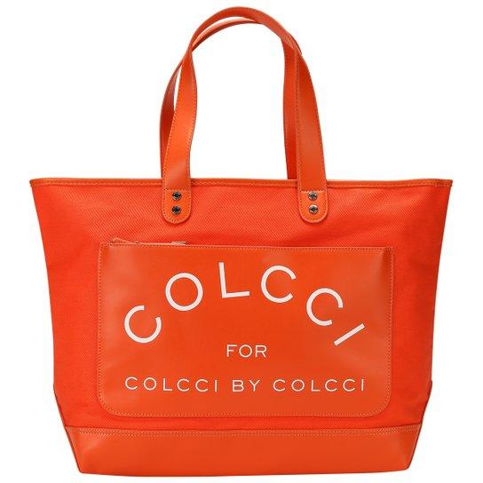 31f965372 Bolsa Colcci Shop Lona - Laranja