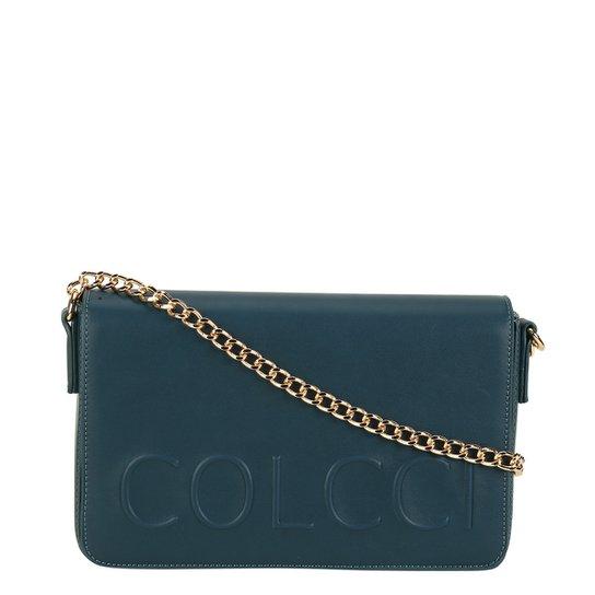 6c871c465 Bolsa Colcci Flap Alto Relevo Feminina - Azul Escuro