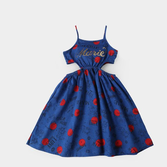 90c262aea Vestido Infantil Fakini Gata Marie - Azul Escuro - Compre Agora ...