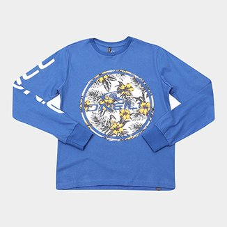 c1a825dcef613 Camiseta Infantil O Neill Estampa Floral Manga Longa Masculina