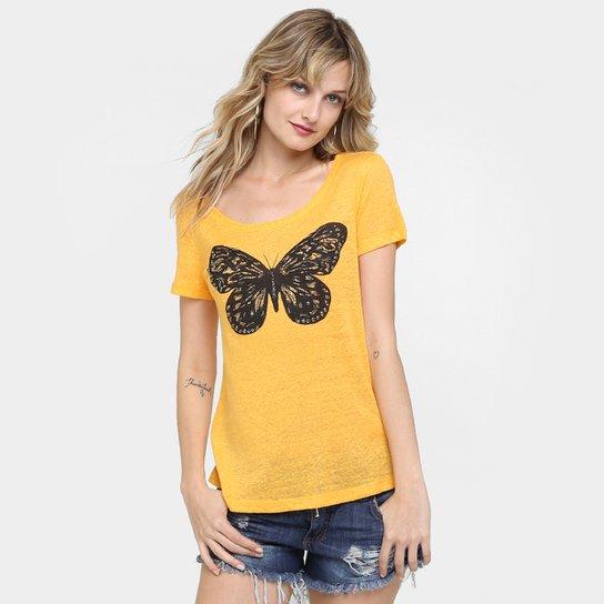 7af3dac0ac Camiseta Canal Borboleta Bordada - Compre Agora