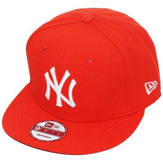 ccb1f8ccd5c32 Boné New Era Aba Reta Snapback Mlb Ny Yankees Basi - Compre Agora ...