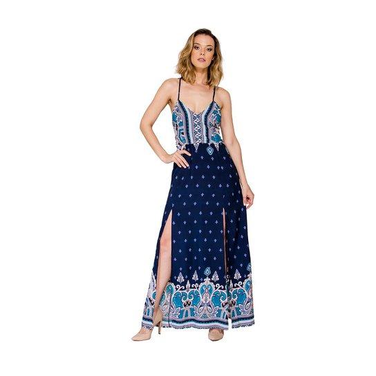 48032f42c Vestido Longo Estampado Handbook - Compre Agora | Zattini