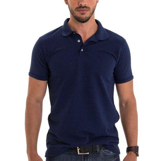 a380763db6 Camisa Polo Aramis Triztam 20 Liso - Azul Escuro