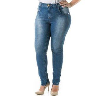 326b3858c Calça Jeans Feminina Confidencial Extra Skinny Cigarrete Tradicional Plus  Size