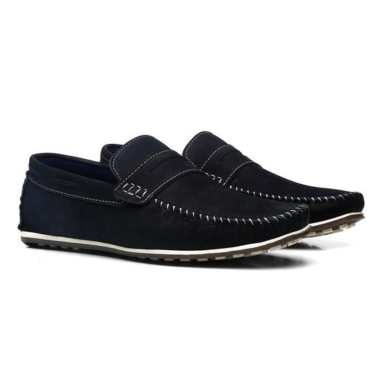 9234ffda9e Mocassim Masculino Polo Rio Elegance - Azul Escuro