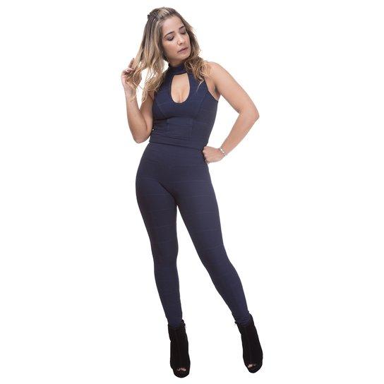 caf0a7d4f Calça Legging Miss Blessed Bandagem - Azul Escuro - Compre Agora ...