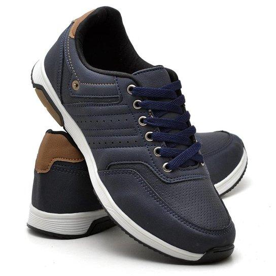 3e4286eb6af Sapatênis Jogging Polo Culture Masculino - Azul Escuro - Compre ...