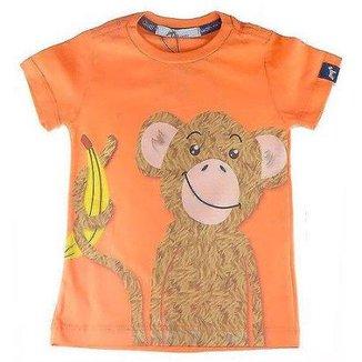 Camiseta Bebê Oliver Algodão Macaco Masculina f801ae2049a