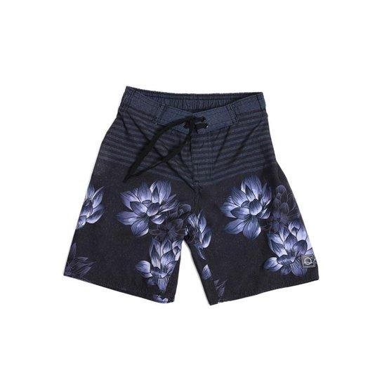 183f913eb Shorts Infantil Pai e Filho Liquido Masculino - Azul Escuro