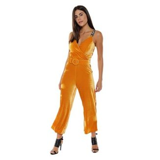 b69939700 Macacão Cropped Veludo Studio 21 Fashion Feminino