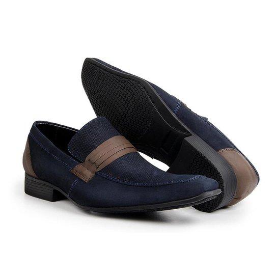 2fc3b0ae20 Sapato Casual Bigioni Couro Nobuck Masculino - Azul Escuro | Zattini
