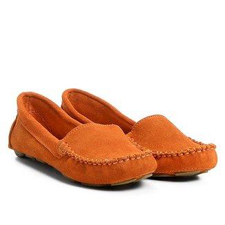 407a2d0b44 Mocassim Couro Shoestock Drive Camurça Liso Feminino