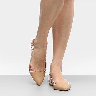 849c371474 Sapatilha Shoestock Bico Fino Hibisco Feminina