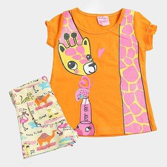 10e4ca7e5d Conjunto Infantil For Girl Girafa Feminino