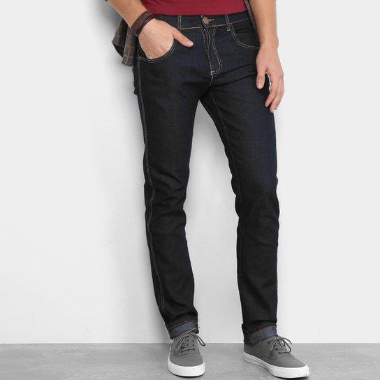 05874d375 Calça Jeans Reta Zamany Básica Masculina - Azul Escuro