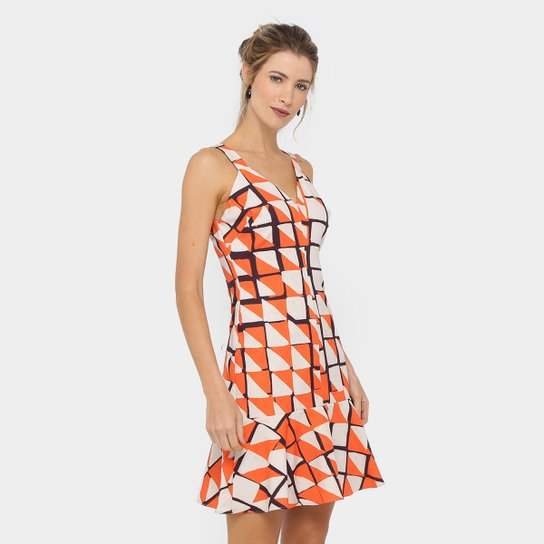03700e6b7f Vestido Morena Rosa Curto Estampado Babado - Compre Agora