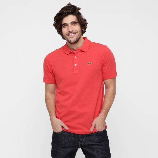 Camisa Polo Lacoste Super Light Masculina - Vermelho e Branco ... 17e0467e17