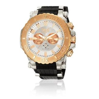 Relógio de Pulso Everlast Cx Aço Pulseira Silicone Analógico 568ccb8d11