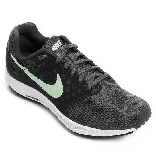 Tênis Nike Downshifter 7 Feminino - Chumbo e Verde - Compre Agora ... e9768a4ff297c