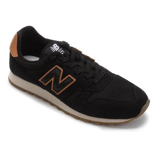 e76051b3333d9 Tênis New Balance 373 Core Masculino - Preto e Caramelo | Zattini