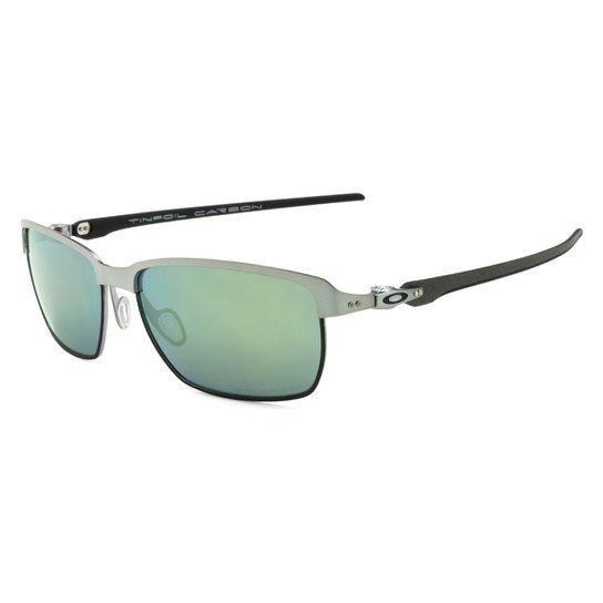 124620f8dab84 Óculos Oakley Tinfoil Carbon Lead Matte Black - Esmerald Iridium Polarizado  - Chumbo+Verde