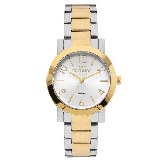 538a9a6bcf3 Relógio Technos Feminino - Prata e Dourado - Compre Agora