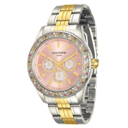 a71932b1bd6 Relógio Mondaine Feminino - Prata e Dourado - Compre Agora