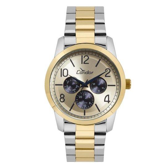 81aabf28ba5 Relógio Condor Feminino Bracelete Bicolor - CO6P29IK 5D CO6P29IK 5D - Prata +Dourado