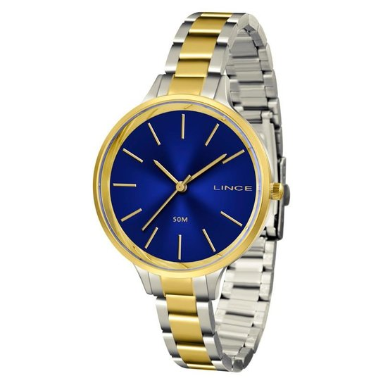 d3291c27fa43a Relógio Lince Feminino - LRTH045L D1SK - Prata e Dourado - Compre ...