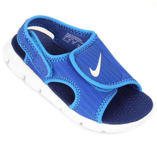 5bce67ac2bf Sandália Infantil Nike Sunray Adjust 4 - Azul e Branco - Compre ...