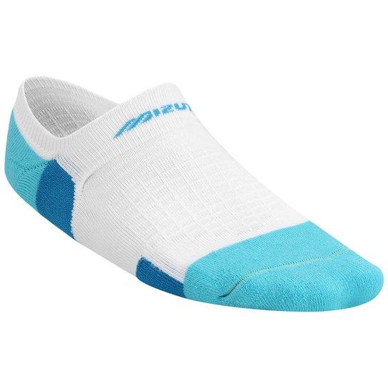 b0c1a2e35 Meia Mizuno Sapatilha Microfibra - Branco+Azul Claro