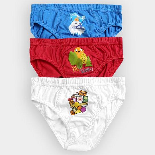 c5c67e273 Kit Cueca Lupo Slip Adventure Time 3 Peças Infantil - Compre Agora ...