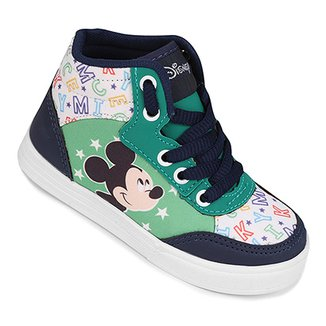 86e003c9909 Tênis Infantil Cano Alto Disney Mickey Masculino