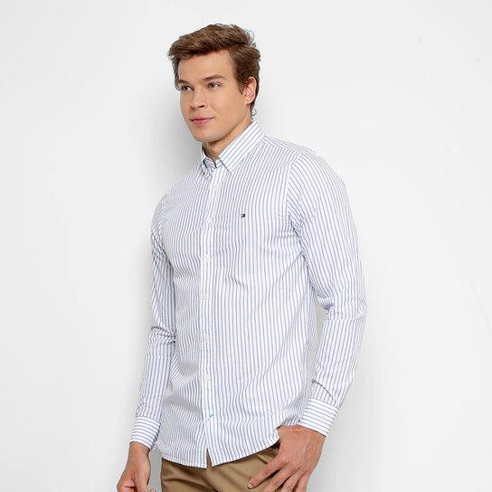 Camisa Tommy Hilfiger Listras Slim Fit Masculina - Compre Agora ... 0b9b6a19421