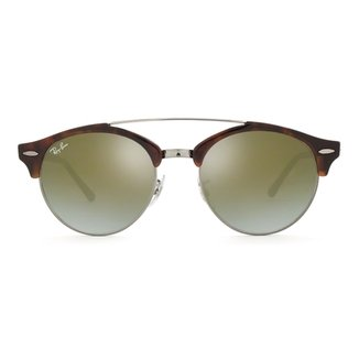 3ae33df08bda4 Óculos de Sol Ray Ban Clubround Double Bridge RB4346 6251 9J-51 Masculino