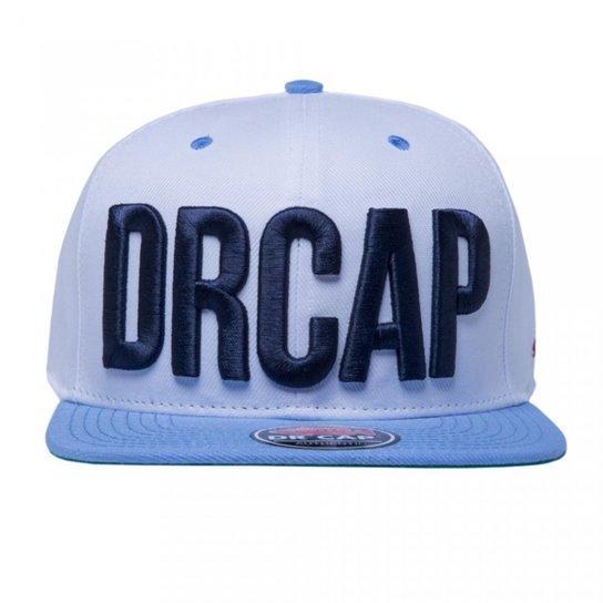Boné Snapback Drcap - Branco e Azul - Compre Agora  4239f424d81
