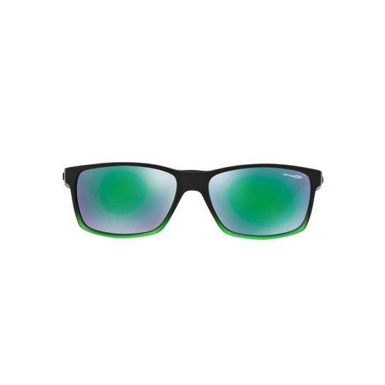 bd90140a19d58 Óculos de Sol Arnette Retângular AN4185 Slickster Masculino - Preto+verde